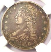1836 Reeded Edge Capped Bust Half Dollar 50c Coin - Ngc Vf Details - Key Date