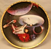 Hamilton Star Trek The Voyagers Uss Enterprise Ncc-1701 Collector Plate With Coa