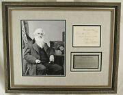 Samuel F. B. Morse Wire Telegraphy Inventor Autograph And039and039rareand039and039 Signed Dated 1869