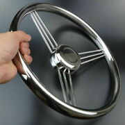 Marine Yacht Boat 13-1/2and039and039 Steering Wheel Stainless Steel 9 Spokes Polished