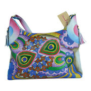 Swank Bags Hand Painted Leather Hobo Bag - Abstract Pattern Sb061-3