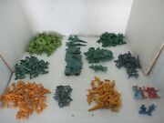 250 Plastic 2 Tall Toy Soldiers Army Men - Gray Green Yellow And Tanks Planes