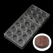 Euro Coins Diy Chocolate Mould Polycarbonate Pc Candy Jelly Mold Pastry Tools