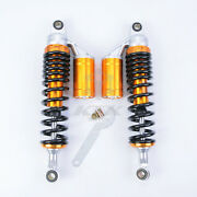 Pair Shock Absorber 340mm-380mm Motorcycle Replacement Round End For Scooter Atv