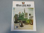 Oliver 1555 And 1655 Farm Tractor Brochure