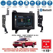 Plug-in 7 Double Din Usb Bluetooth Car Stereo Radio For Chevy S-10/gmc Sonoma