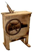Antique Primitive Farm Rustic Crank Corn Husker And Mill Louisville Ky