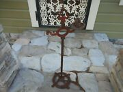 Antique 29.5 Cast Iron Stand Up Ornate Victorian Ashtray Smoking Stand