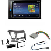 Pioneer Avh-200ex 6.2 Stereo / Dash Kit Compatible With 2006-2011 Honda Civic