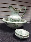 Belmont Alfred Meakin Wash Bowl And Pitcher Dish Vanity Set Rare