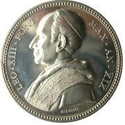 Medal - Leo Xiii - Year Xix Pontificate 1896 - Annual - Unity Of The Church - Ag