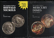 The Complete Guide To Buffalo Nickels + Mercury Dimes By David Lange 2 New Books