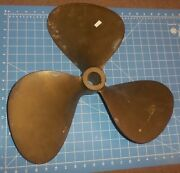 Federal Equi-poise Three Blade Brass Propeller 20 Lh 21 With 1 3/8 Shaft