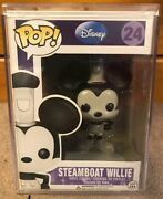 Funko Pop Steamboat Willie 24 / Mickey Mouse Disney Grail Pop With Pop Stacks