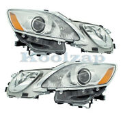 For 07-11 Gs350/gs430/gs460 Front Headlight Headlamp W/washer Holes Set Pair