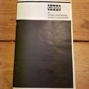 Case Model 80 Riding Mower Owners Manual
