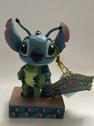 Disney Traditions Jim Shore Stitch With Frog Strange Life Forms Figurine 4059741