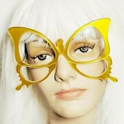 Anglo American Optical Butterfly Yellow Eyeglasses Frames Handmade Rare Vintage