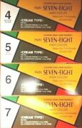 9 Pcs Paon Seven-eight 4, 5, 6, 7 Cream Type Hair Color - New