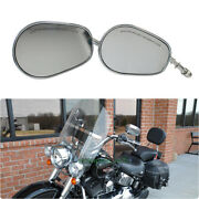 Chrome Motorcycle Side Mirror For Harley Davidson Heritage Softail Breakout Slim