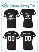 Mr Mrs Always Right Fine Jersey Style Couples Tshirts Custom Back Personalized