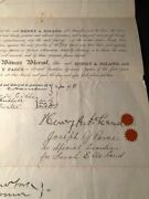 Henry A Deland / Rare Original 1885 Land Purchase Agreement Signed By Henry