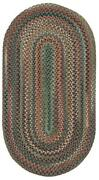 Capel Rugs Sherwood Forest Wool Country Lodge Area Braided Rug 225 Sage Green