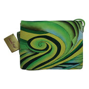 Swank Bags Hand Painted Leather Organizer- Abstract Swirl Pattern Sb102-5