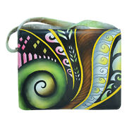 Swank Bags Hand Painted Leather Organizer - Abstract Swirl Pattern Sb102-8