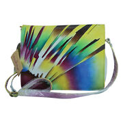 Swank Bags Hand Painted Leather Organizer - Abstract Sun Pattern Sb102-6