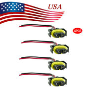 4x 881 H11 880 Plug Wiring Harness Sockets Connector For Fog Driving Headlight