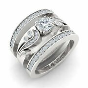 Certified 0.95 Ct Real L/i1 Diamond 14k White Gold Engagement Ring Size 6