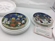 Danbury Mint Peanuts Lot Of 2 Plates - Merry Christmas Charlie Brown, The Great