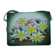 Swank Bags Hand Painted Leather Organizer- Pastel Flowers Sb102-2
