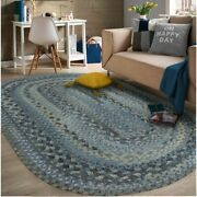 Capel Rugs Harborview Slate Grey Wool Blend Country Home Oval Braided Area Rug