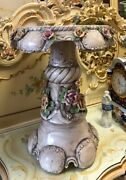 Italian Capodimonte Porcelain Coffee Table Or Pedestal Magnificent Large