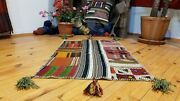 Vintage Bohemian 1960-1970and039s Overdyed Patchwork Rug 2and039 Andtimes 3and039 2