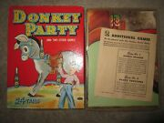 Vtg Whitman Publ. Co. Donkey Party Pin The Tail Paper Childand039s Party Game 1941