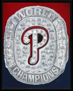 Philadelphia Phillies World Champs 2008 Orig. Painting By V Wells 52x42