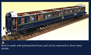 Elegant Detailed Model Train Kit By Amati Orient Express Sleeping Car