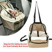 Lookout Small Dog 20 Pounds Car Seat Pet Safety Booster Seat Foldable Bed House