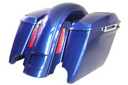 Superior Blue 4.5 Dual Cutouts 69 Speaker Lids Saddlebags For Harley 2009-2013