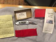 Brand New Hand Made Custom Terry Guinn Knife Rare With Letter One Of A Kind