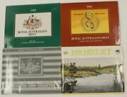 1985 - 1988 Royal Australian Mint 4x Uncirculated Coin Sets Collection 1986 1987