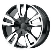 Oe Creations Pr188 24x10 6x139.7 Et31 Gloss Black W/machined Face Qty Of 4