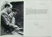 Albert Speer Architect And Minister Armaments Germany Signed Souvenir Transcript