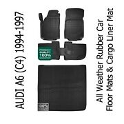 All Weather Car Floor Mats And Cargo Linet Boot Mat For Audi A6 C4 Avant 1994-1997