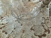 Fostoria Liberty Bell And Eagle Punch Bowl Set. Crystal With 12 Cups And Glass Ladle