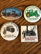 Lot Of 4 Vintage Steam Thresher Buttons Rollag And Park River