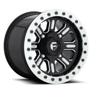 Fuel Hardline Beadlock D910 15x10 4x137 Et25 Gloss Black And Milled Qty Of 4